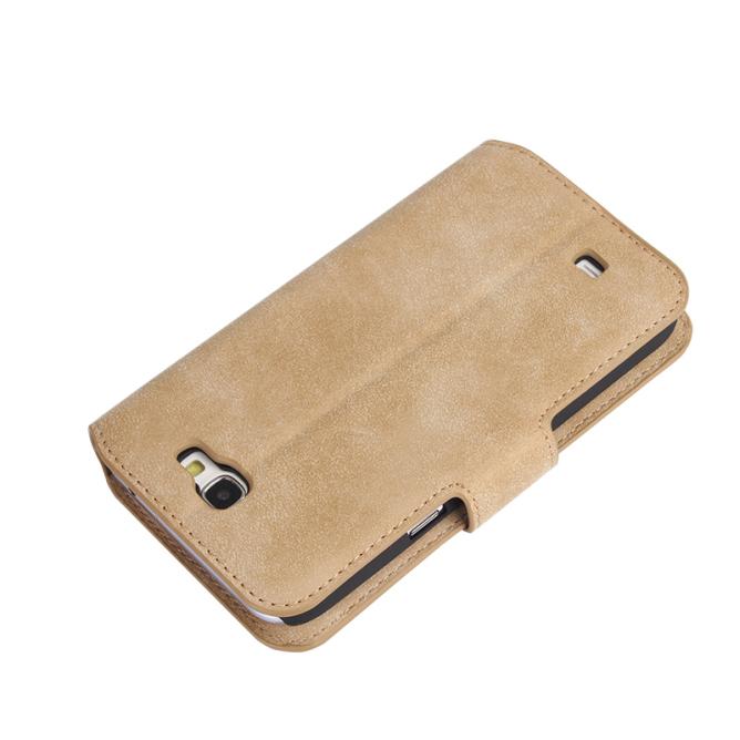 Golden Phoenix Samsung Galaxy Note 2 Ledertasche Klassik Wildleder hellbraun