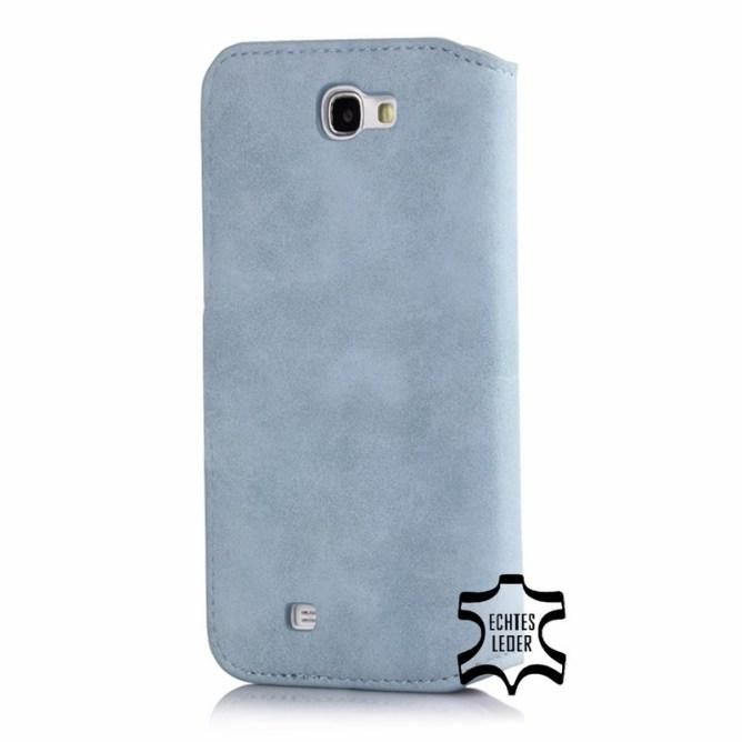 Golden Phoenix Samsung Galaxy Note 3 Handyhuelle Klassik Wallet-Case Wildleder hellblau