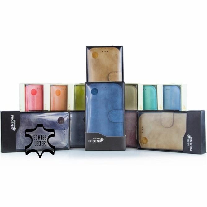 Golden Phoenix Samsung Galaxy S4 Handyhuelle Klassik Wallet-Case Wildleder alle Farben