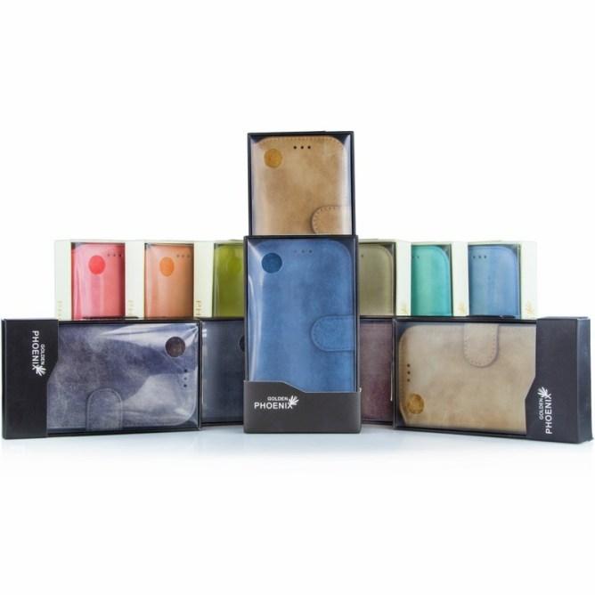 Golden Phoenix Samsung Galaxy S5 Handyhuelle Klassik Wallet-Case Wildleder alle Farben