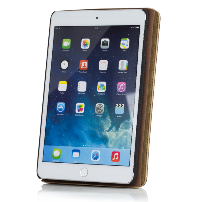 Golden Phoenix iPad Mini 2 Tasche Klassik Smart-Case Wildleder hellbraun