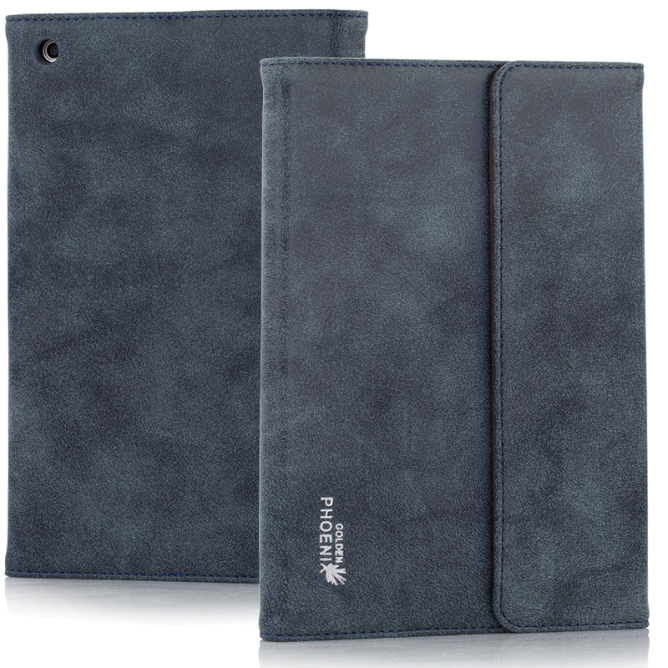 Golden Phoenix iPad Mini 3 Tasche Klassik Wildleder blau