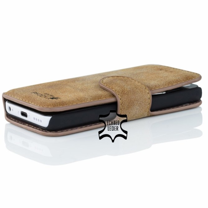 Golden Phoenix iPhone 5C Tasche Klassik Wildleder braun