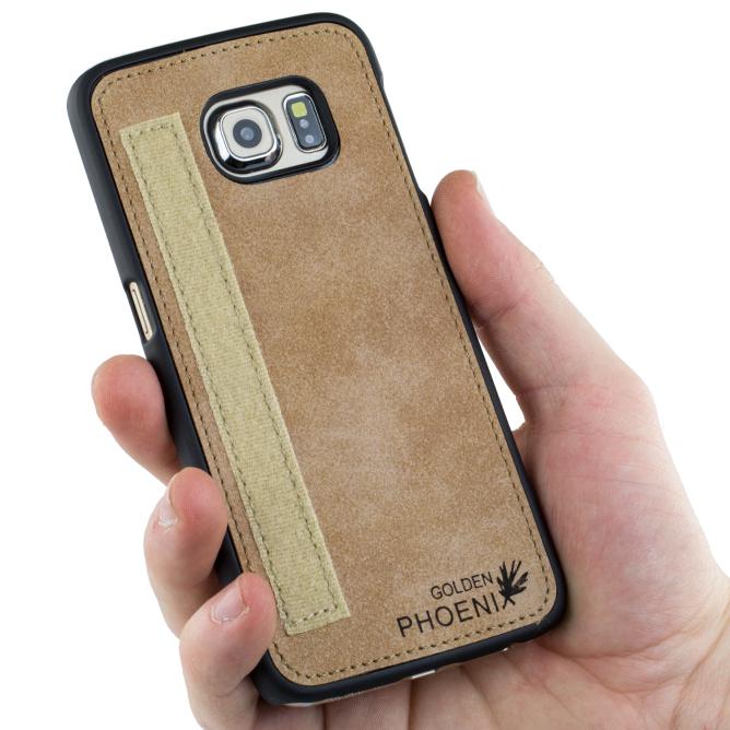 Golden Phoenix Samsung Galaxy S6 Edge Plus Ledertasche Royal Backcover
