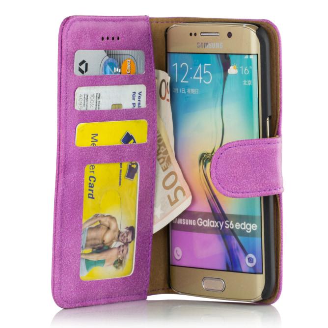 Golden Phoenix Samsung Galaxy S6 Edge Plus Wallet-Case Royal Farben